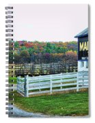 Mail Pouch Tobacco Barn In The Fall Spiral Notebook