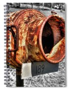 Mailbox With Character Spiral Notebook