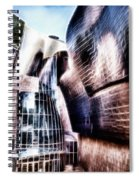 Main Entrance Of Guggenheim Bilbao Museum In The Basque Country Fractal Spiral Notebook