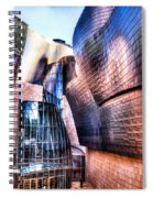 Main Entrance Of Guggenheim Bilbao Museum In The Basque Country Spain Spiral Notebook