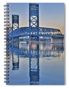 Main Street Bridge Jacksonville Florida Spiral Notebook