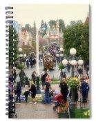 Main Street Disneyland 02 Spiral Notebook