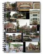 Main Street Disneyland Collage 02 Spiral Notebook