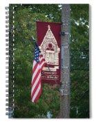 Main Street Flags Dwight Il Spiral Notebook