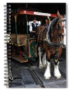 Main Street Horse And Trolley Spiral Notebook
