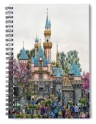 Main Street Sleeping Beauty Castle Disneyland 01 Spiral Notebook