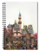 Main Street Sleeping Beauty Castle Disneyland 02 Spiral Notebook