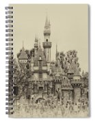 Main Street Sleeping Beauty Castle Disneyland Heirloom 01 Spiral Notebook
