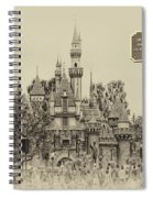 Main Street Sleeping Beauty Castle Disneyland Heirloom 03 Spiral Notebook