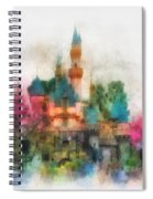 Main Street Sleeping Beauty Castle Disneyland Photo Art 01 Spiral Notebook