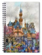 Main Street Sleeping Beauty Castle Disneyland Photo Art 02 Spiral Notebook