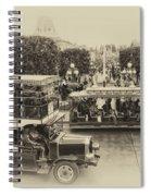 Main Street Transportation Disneyland Heirloom Spiral Notebook