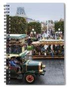 Main Street Transportation Disneyland Spiral Notebook