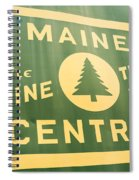 Maine Central The Pine Tree Route Spiral Notebook
