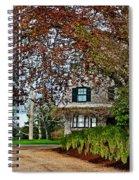 Maine Cottage In Spring Spiral Notebook