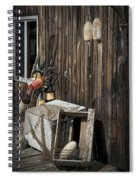 Maine Fishing Buoys And Nets Spiral Notebook