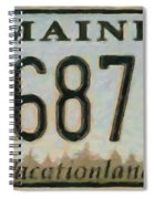 Maine License Plate Spiral Notebook