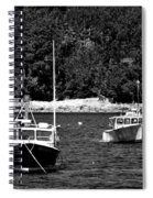 Maine Lobster Boats Spiral Notebook