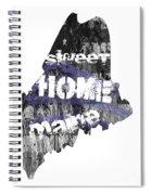 Maine Map Cool Spiral Notebook