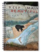 Maine Rock Painting Spiral Notebook