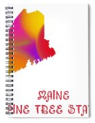 Maine State Map Collection 2 Spiral Notebook