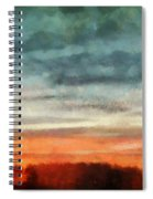 Maine Sunset Spiral Notebook