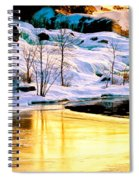 Maine Winter Along The Androscoggin River Spiral Notebook