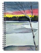 Maine Winter Sunset Spiral Notebook