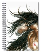 Majestic Pinto Horse 80 Spiral Notebook