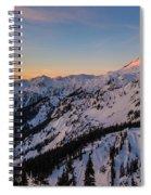 Majestic Mount Baker Sunrise Light Spiral Notebook