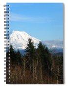 Majestic Mount Rainier Spiral Notebook