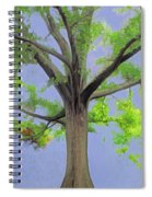 Majestic Tree With Birds Nest Spiral Notebook