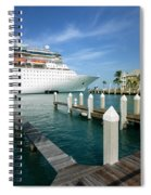 Majesty Of The Seas Docked At Key West Florida Spiral Notebook