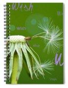 Make A Wish Card Spiral Notebook