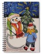 Make A Wish Snowman Spiral Notebook
