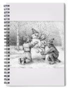 Making A Snowman Spiral Notebook