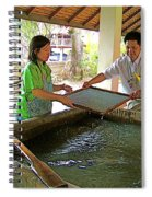 Making Paper Using Mulberry Tree Pulp At Boring Paper Factory In Chiand Mai-thailand Spiral Notebook