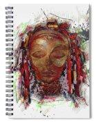 Makonde Mapiko - Lipiko Mask Spiral Notebook