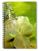 Malachite On Peony Spiral Notebook