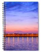 Malaga Pink And Blue Sunrise  Spiral Notebook