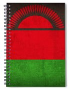 Malawi Flag Vintage Distressed Finish Spiral Notebook