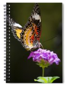 Malay Lacewing On A Flower  Spiral Notebook