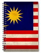 Malaysia Flag Vintage Distressed Finish Spiral Notebook