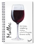 Malbec Spiral Notebook
