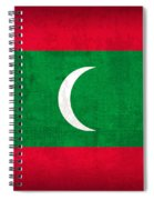 Maldives Flag Vintage Distressed Finish Spiral Notebook