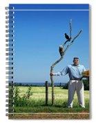 Male Box Man Spiral Notebook