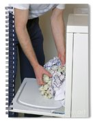 Male Doing Laundry Spiral Notebook