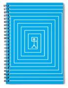 Male Maze Icon Spiral Notebook