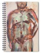 Male Seafoam And Violet Brown Spiral Notebook