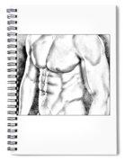 Male Torso #1 Spiral Notebook